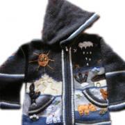 Arpillera Jacket with hood