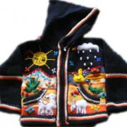 Arpillera Jacket with hood